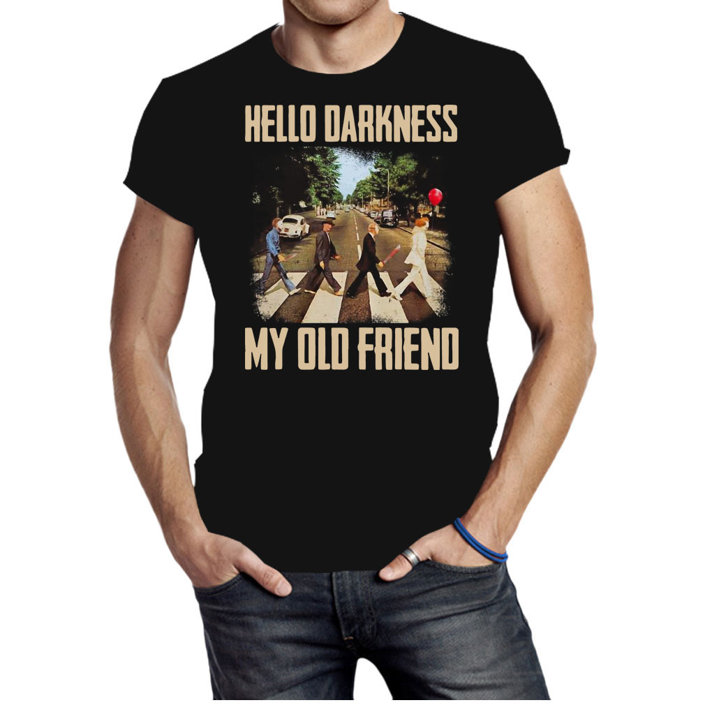 Horror character movie abbey road hello darkness my old friend shirt