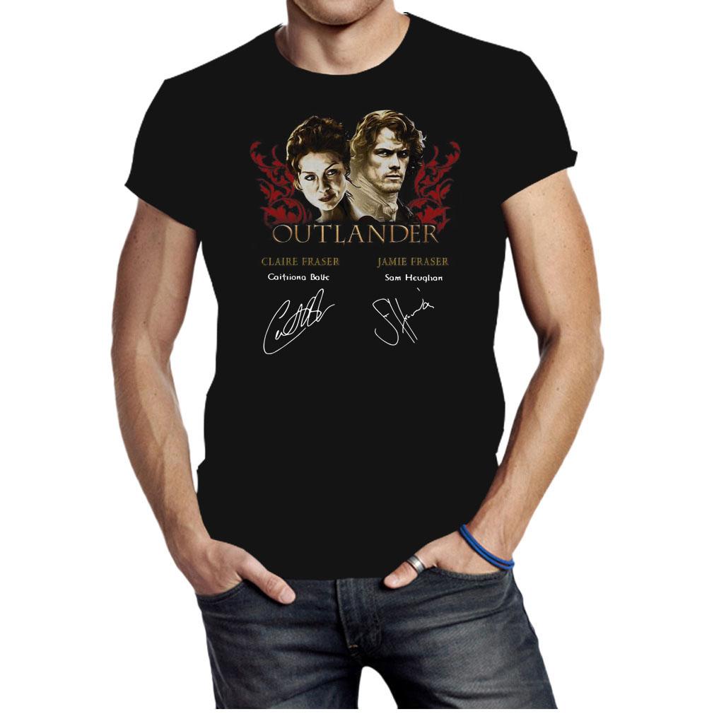 Outlander Claire Fraser Jamie Fraser signatures shirt