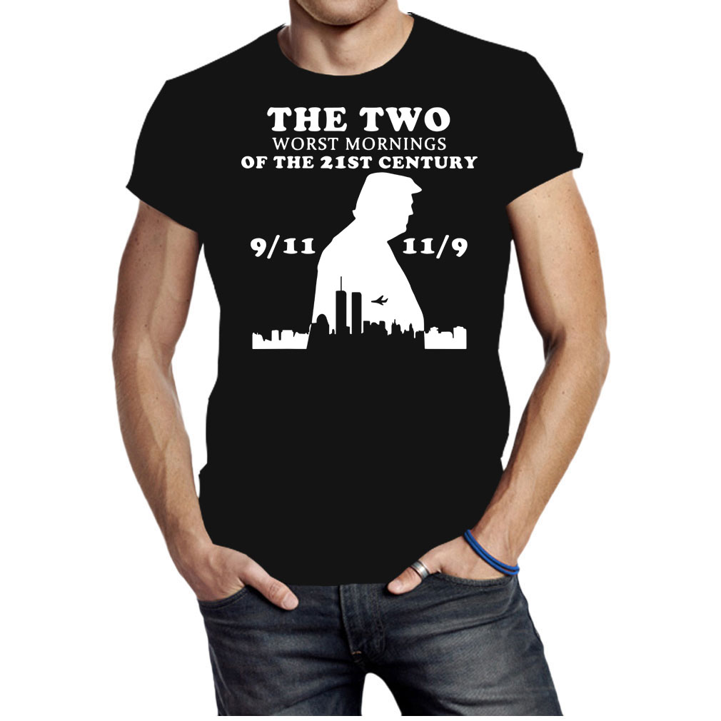 Trump the two worst mornings of the 21st century 9 11 11 9 shirt