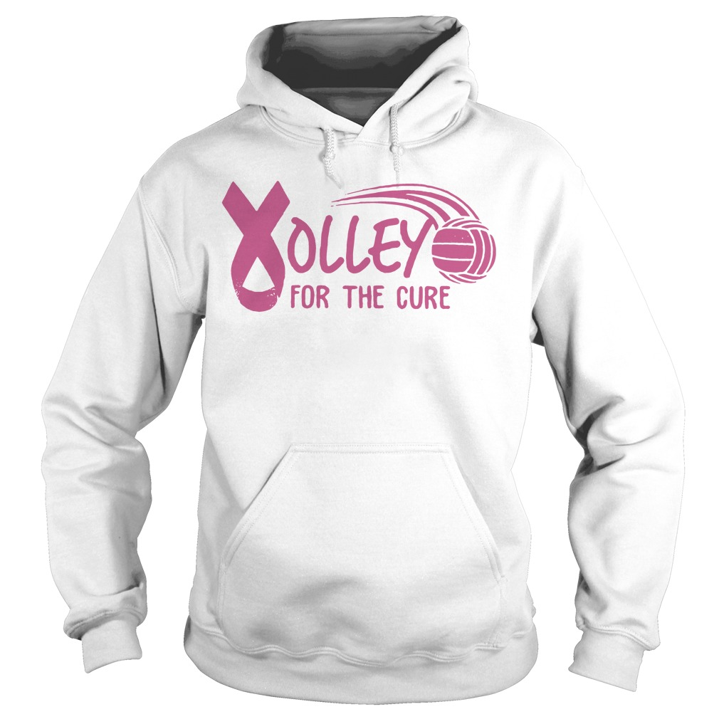 Breast Cancer Awareness Volleyball for the cure Hoodie