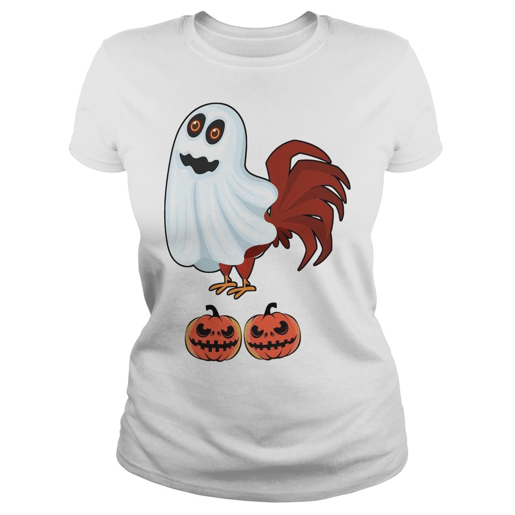 Chicken Boo Halloween Ladies t-shirt