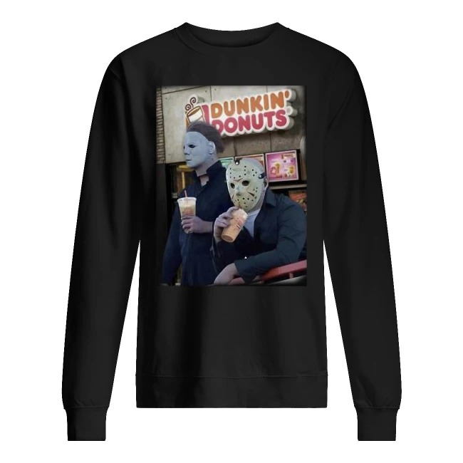 Dunkin Donuts horror Sweater