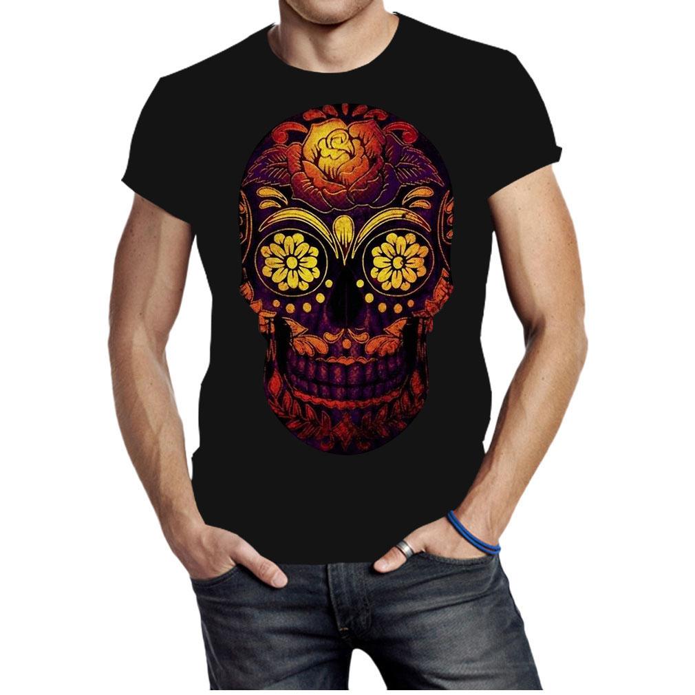 Floral sugar skull shirt