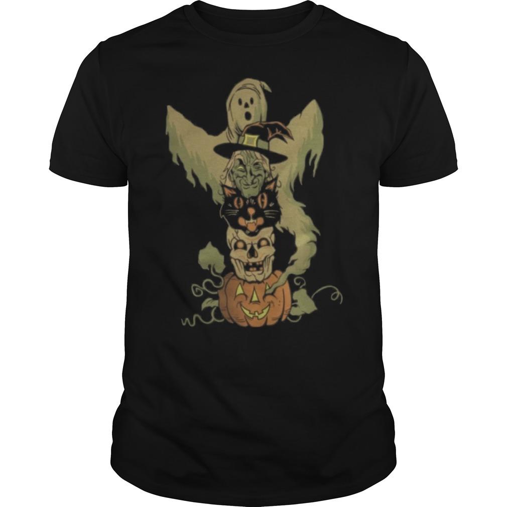 Halloween character totem pole Guys t-shirt
