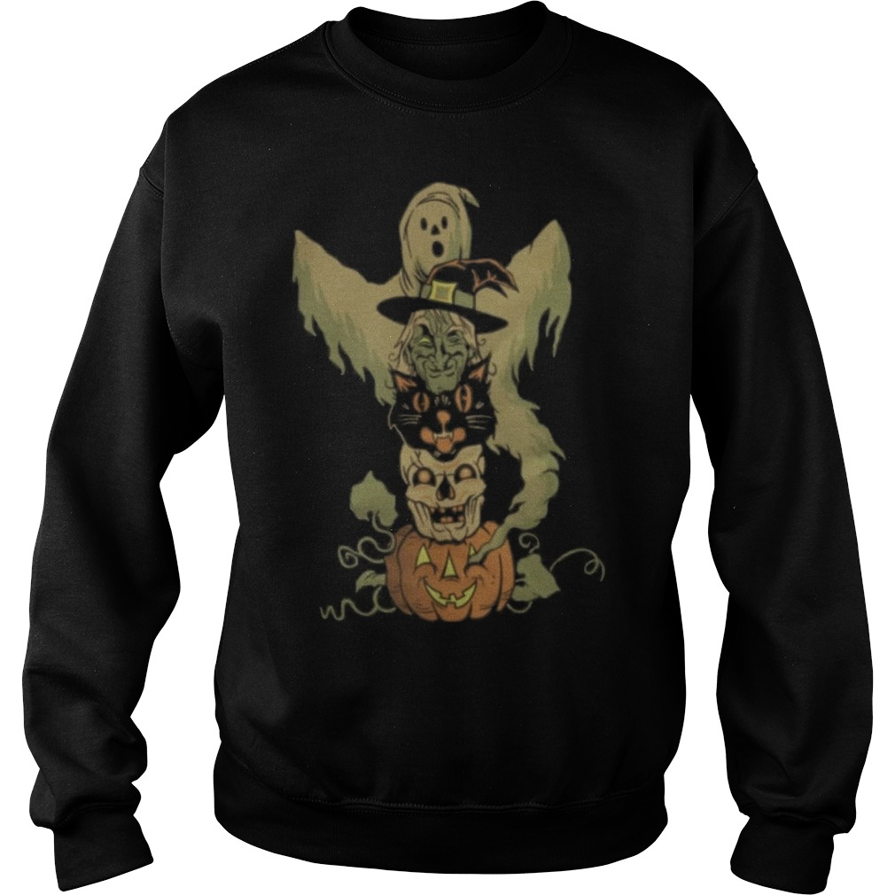 Halloween character totem pole Sweater