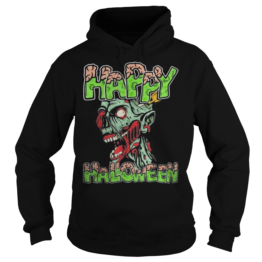 Happy Halloween Zombie cartoon Hoodie