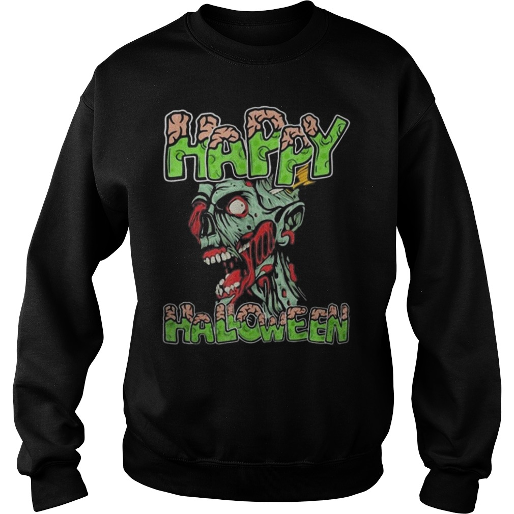 Happy Halloween Zombie cartoon Sweater