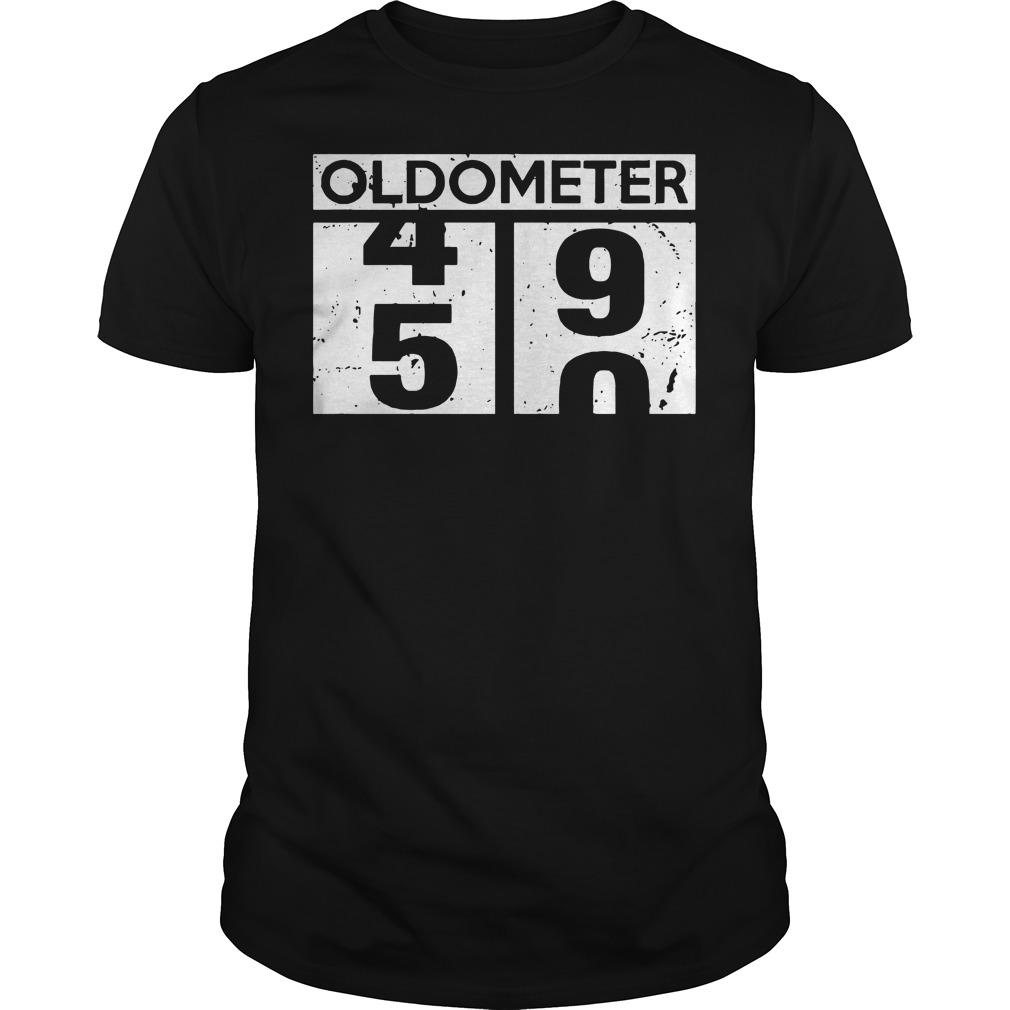 Oldometer 50th birthday counting Guys t-shirt