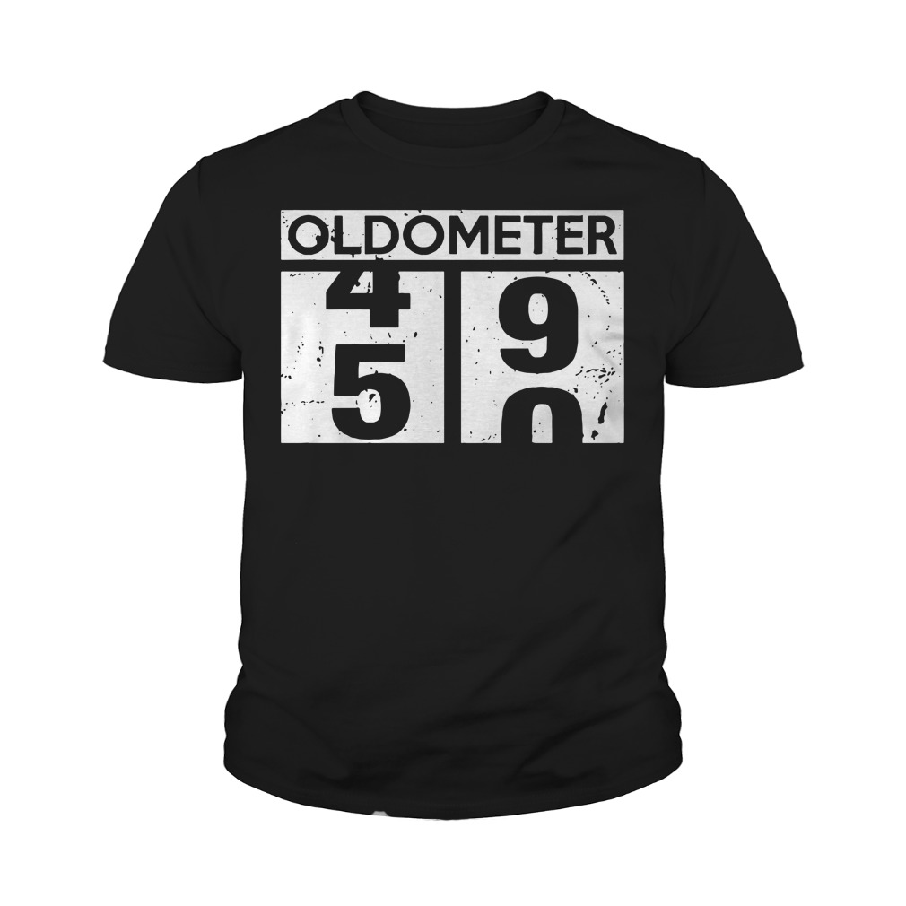 Oldometer 50th birthday counting Youth t-shirt
