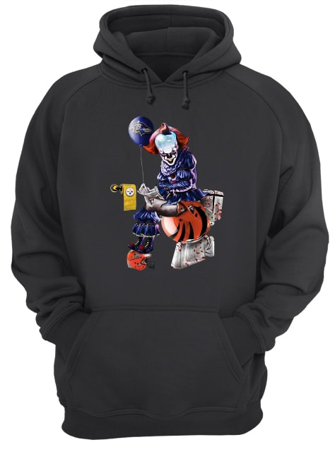 Pennywise Baltimore Ravens Pittsburgh Steelers Cleveland Browns toilet Hoodie