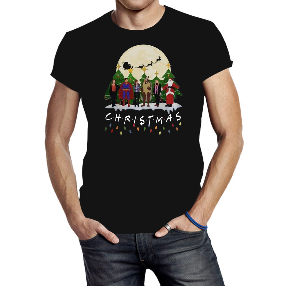 The one with the Halloween party Christmas shirt