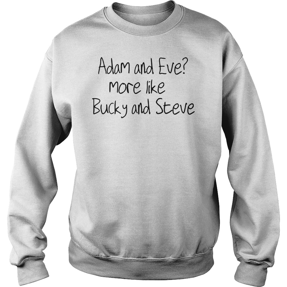 Adam and Eve more like bucky and Steve Sweater