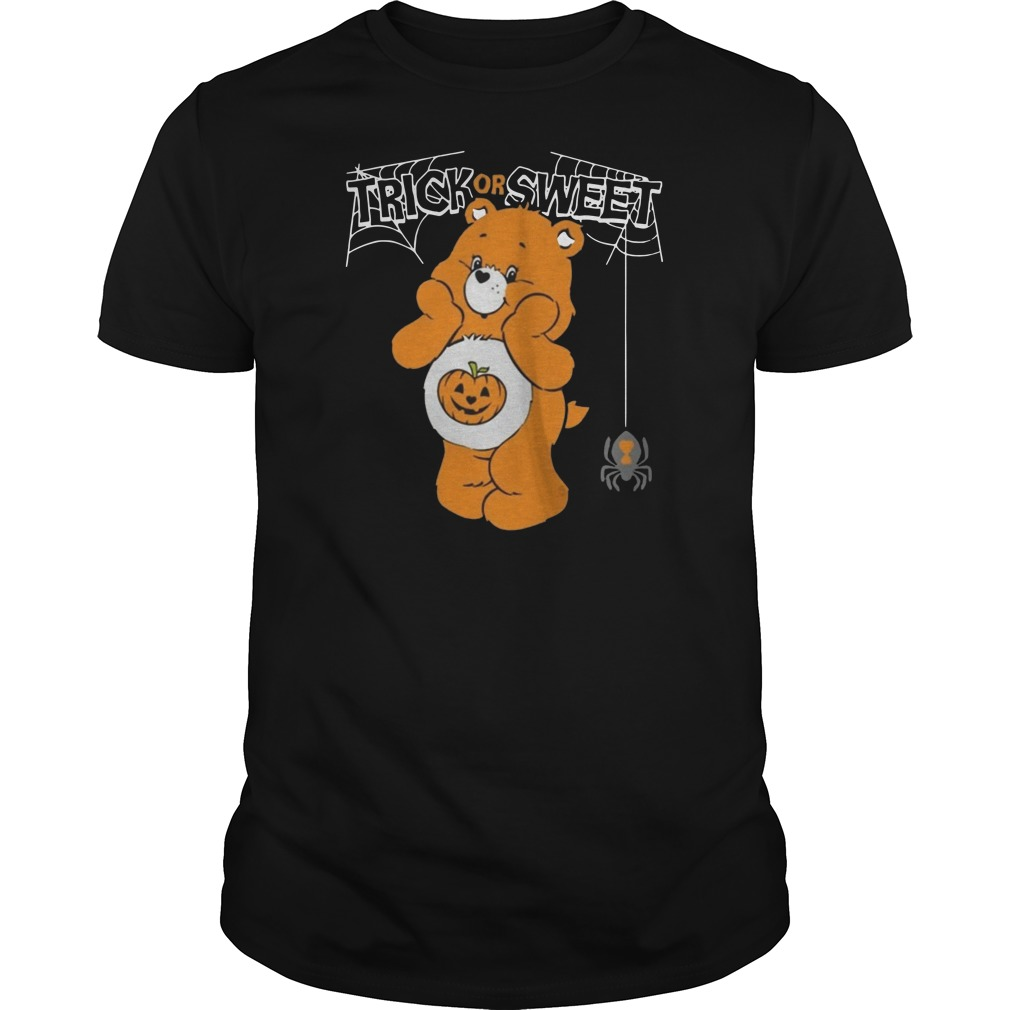 Care bears trick or sweet bear Halloween Guys t-shirt