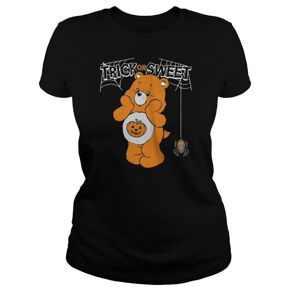 Care bears trick or sweet bear Halloween Ladies t-shirt