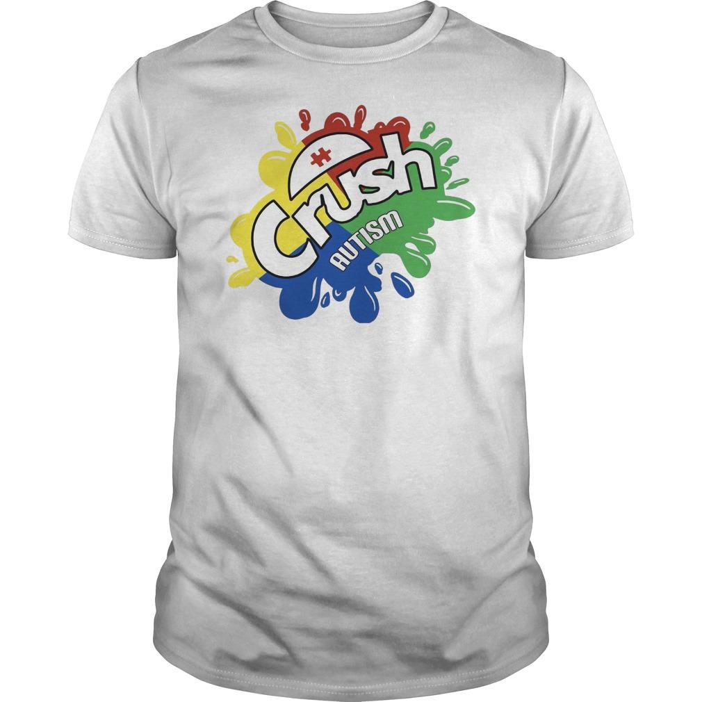 Crush autism Guys t-shirt