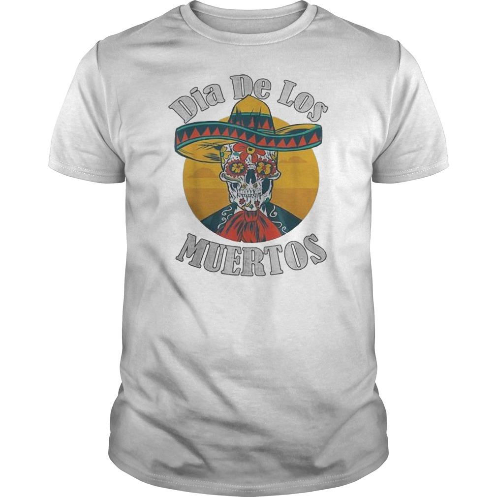 Dia De Los muertos day of the dead skull costume Halloween Guys t-shirt