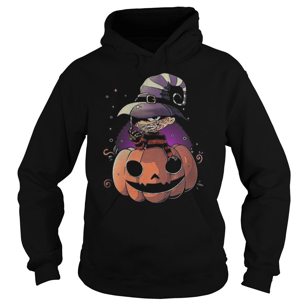 Freddy Krueger chibi on pumpkin Halloween Hoodie