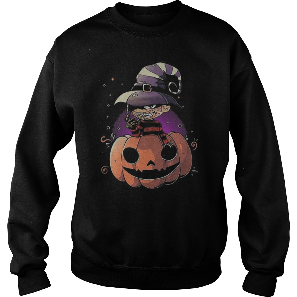 Freddy Krueger chibi on pumpkin Halloween Sweater
