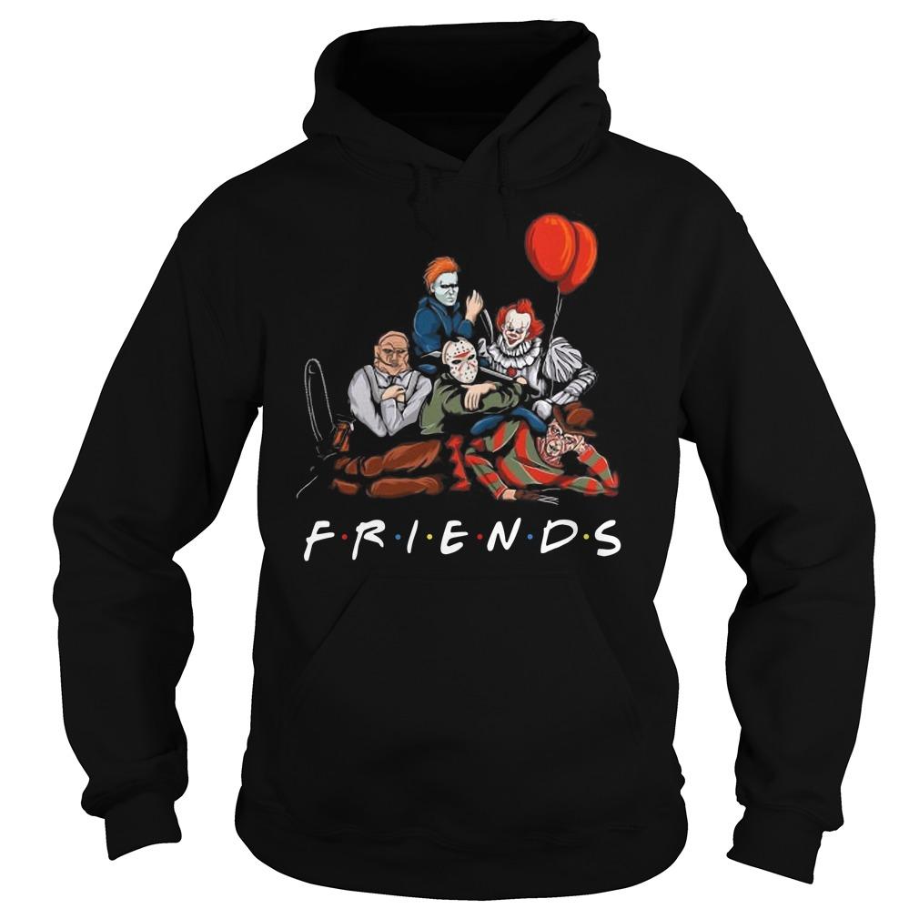 Freddy Krueger Jason Voorhees Michael Myers Pennywise Leatherface Friends Hoodie