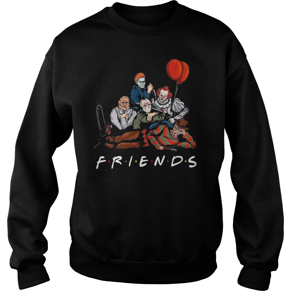Freddy Krueger Jason Voorhees Michael Myers Pennywise Leatherface Friends shirt