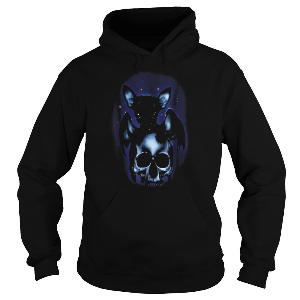 Halloween is coming dog chihuahua bat skull Hoodie