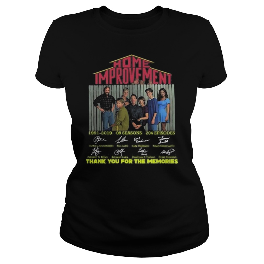 Home Improvement thank you for the memories Ladies t-shirt