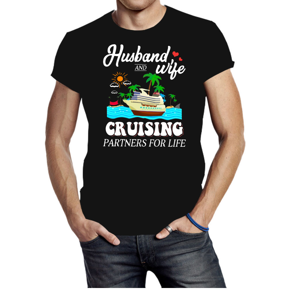 Husband wife cruising partners for life shirt