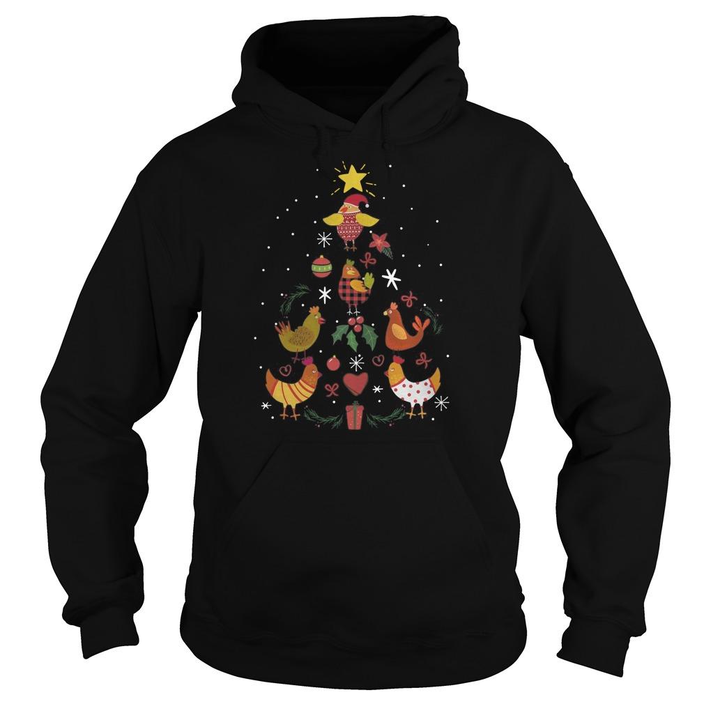 Mimi Chicken Christmas Tree Hoodie