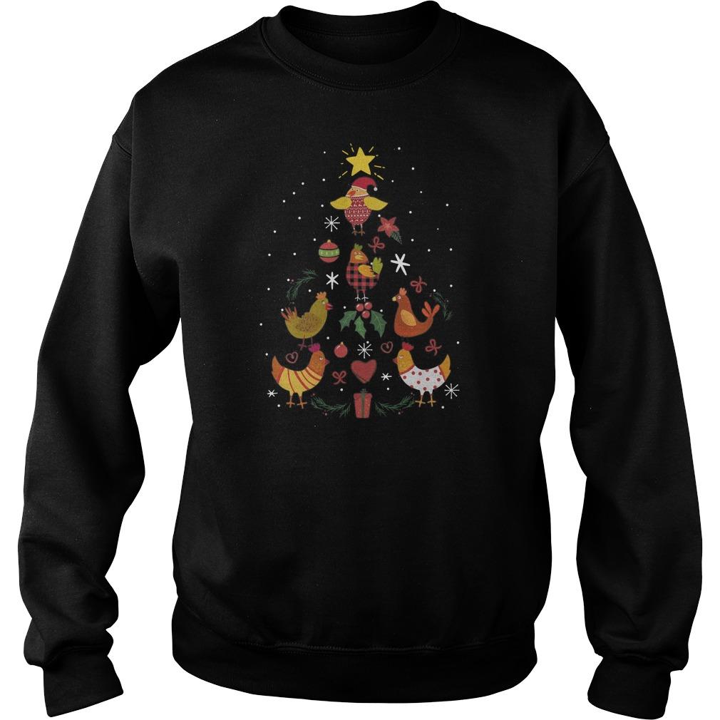 Mimi Chicken Christmas Tree Sweater
