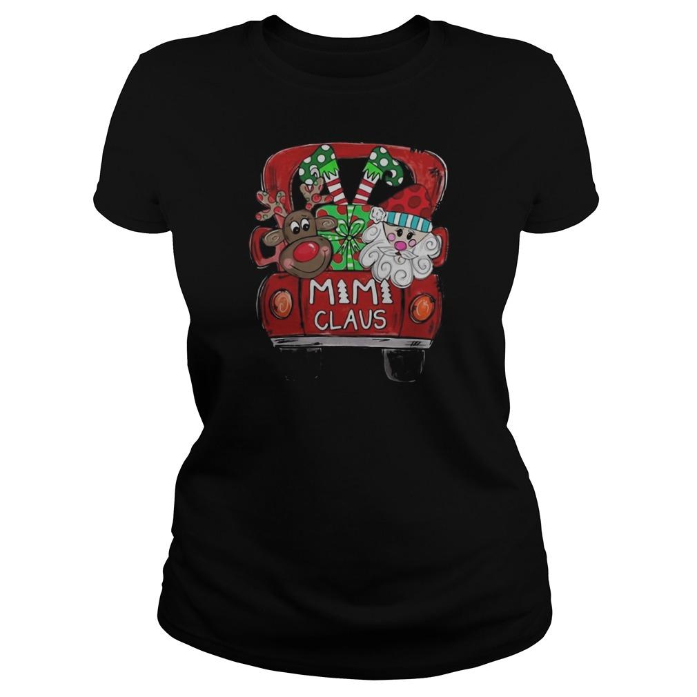 Mimi claus Christmas Ladies t-shirt