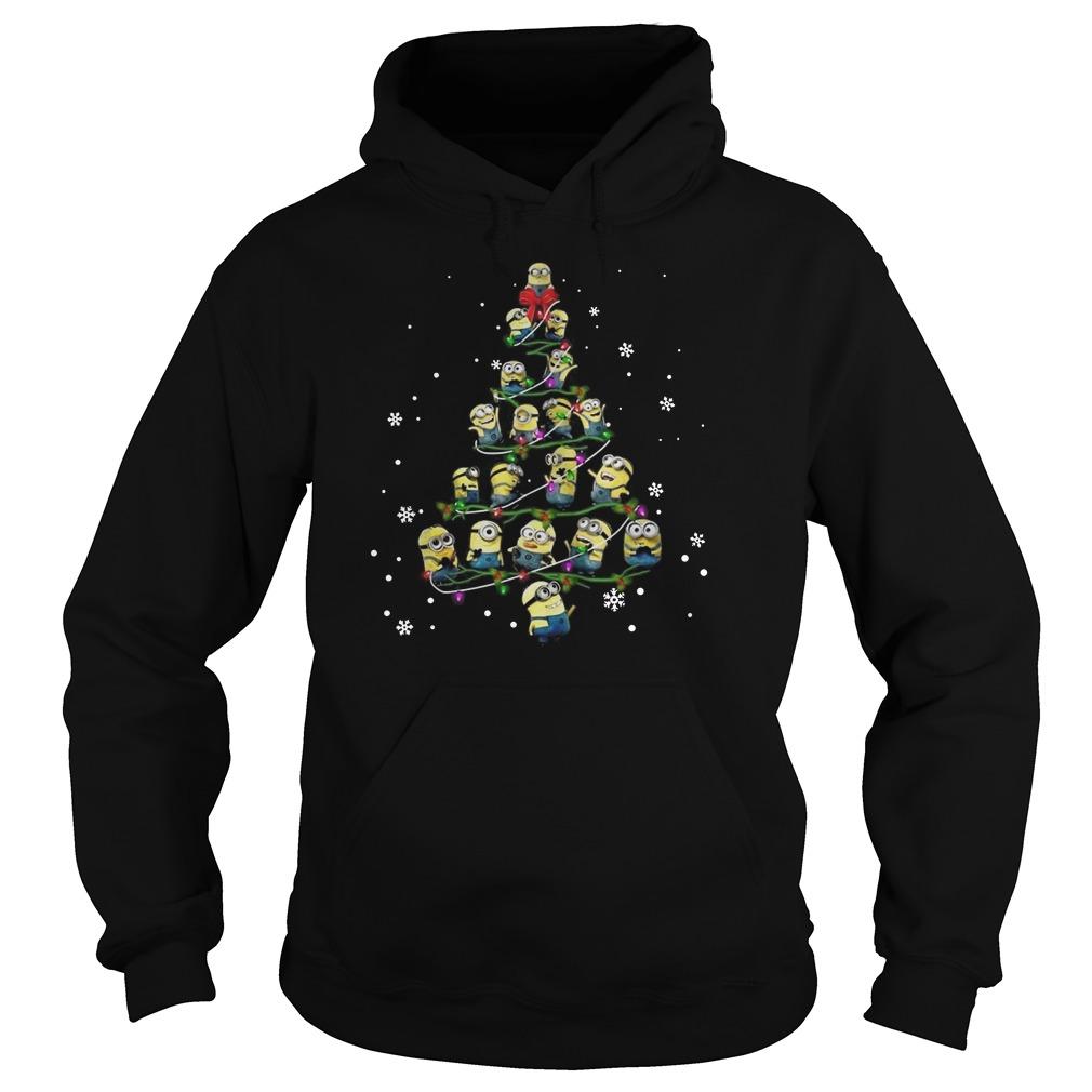 Minion Christmas tree Merry Xmas Hoodie