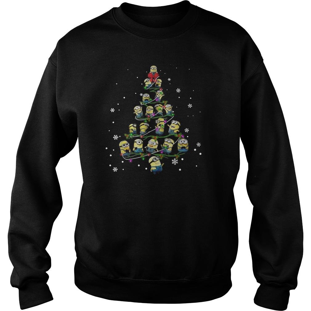 Minion Christmas tree Merry Xmas Sweater