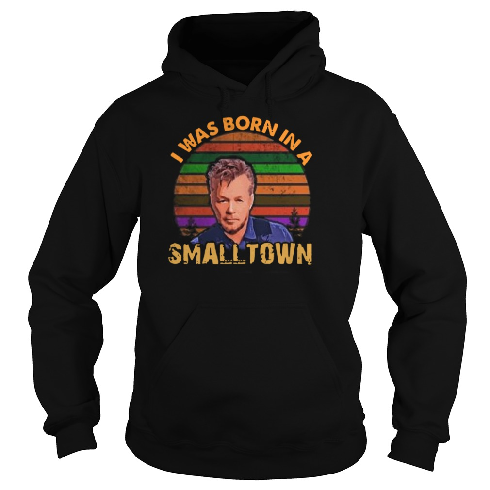 Official I was born in a Small Town Retro Vintage Hoodie