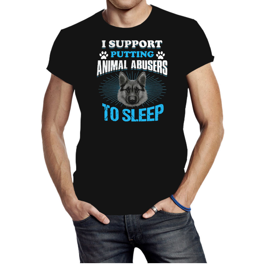 Official German Shepherd I support putting animal abusers to sleep shirt