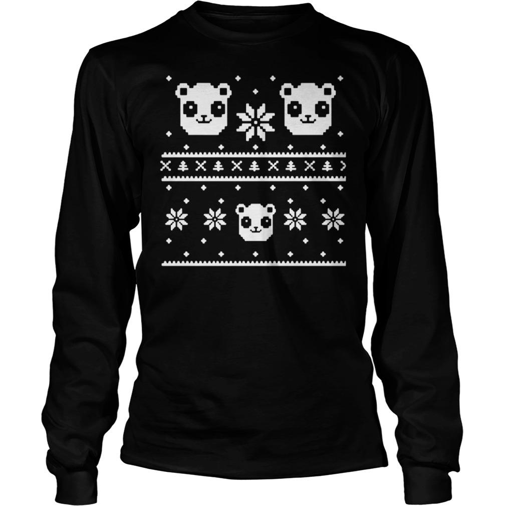 Official Panda Bear ugly Christmas Longsleeve