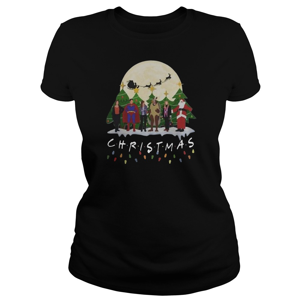 The one with the Halloween party Christmas Ladies t-shirt