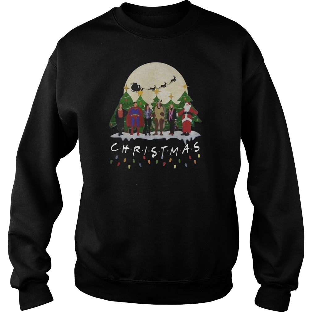 The one with the Halloween party Christmas Sweater