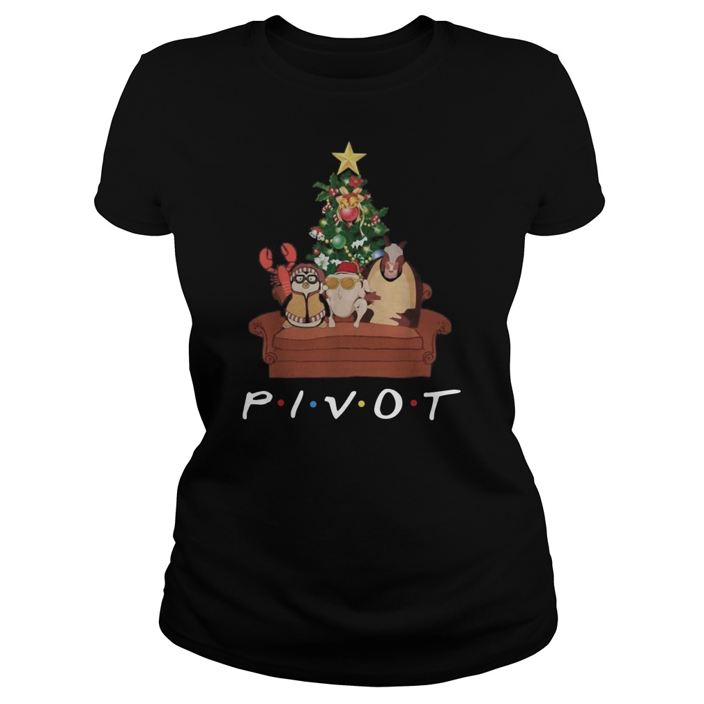 Pivot friends Christmas Ladies t-shirt