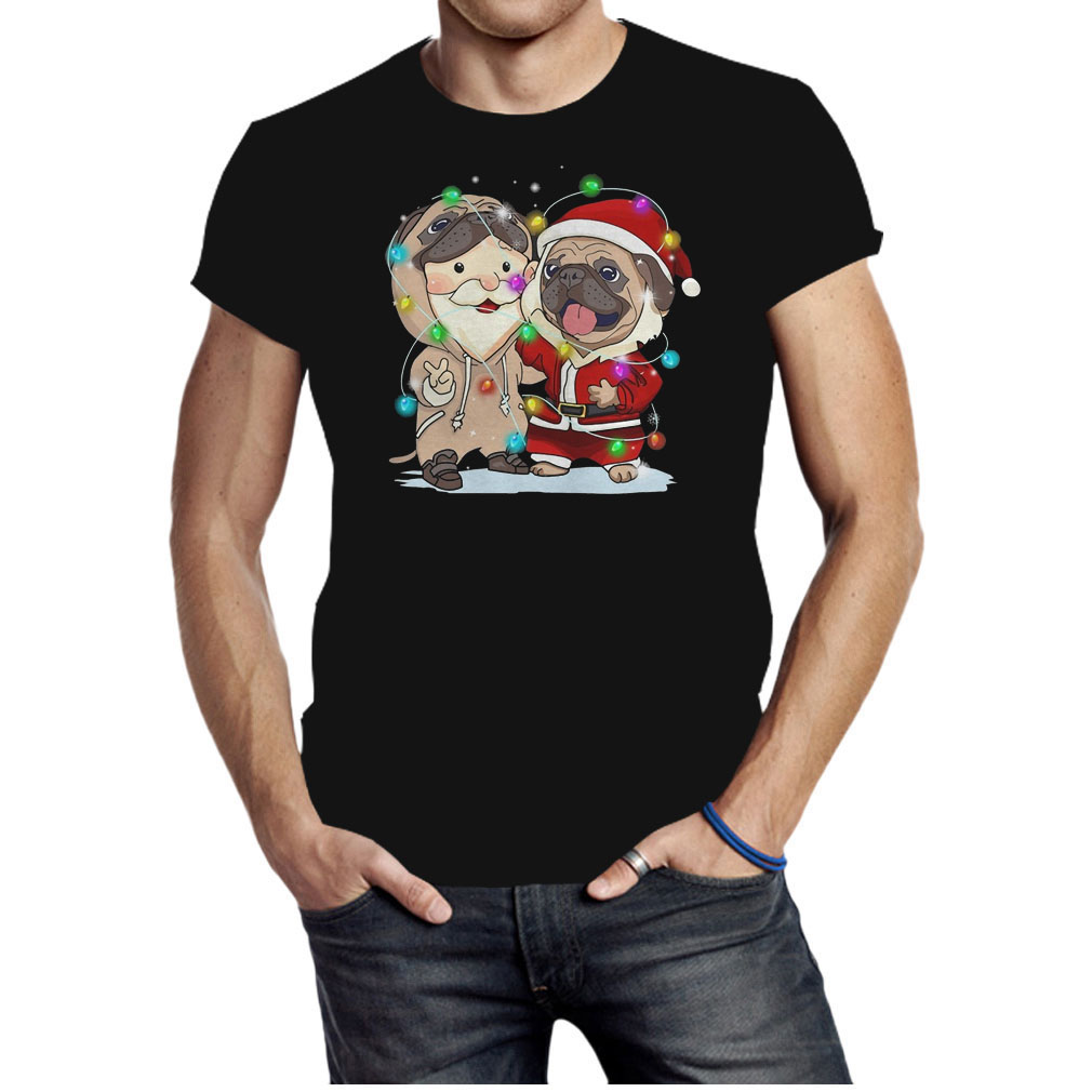 Pug Santa Claus Christmas shirt