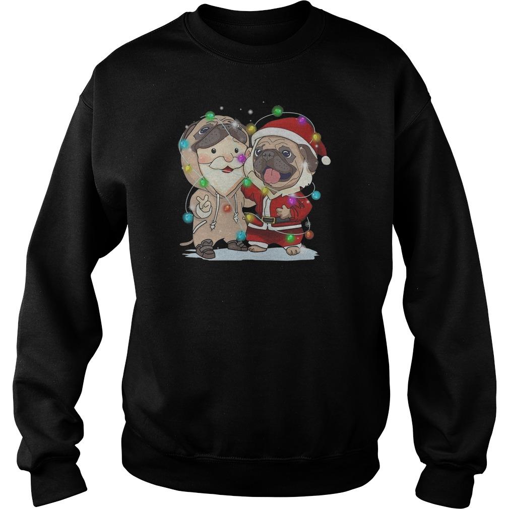 Pug Santa Claus Christmas Sweater