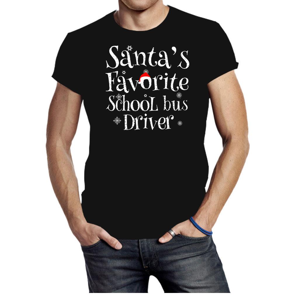 Santa's favorite school bus driver Christmas shirt