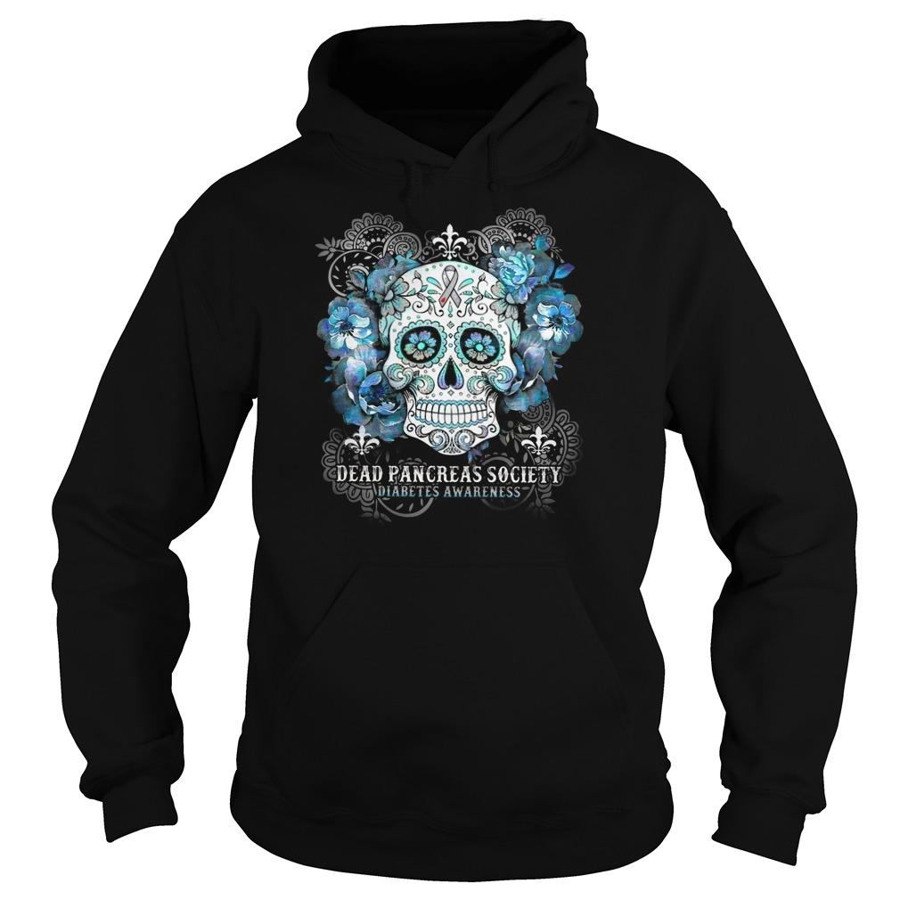 Skull Dead pancreas society diabetes awareness Hoodie