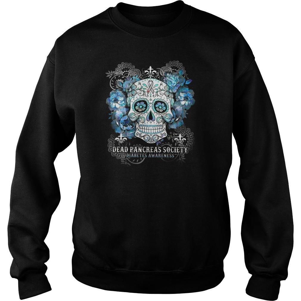 Skull Dead pancreas society diabetes awareness Sweater