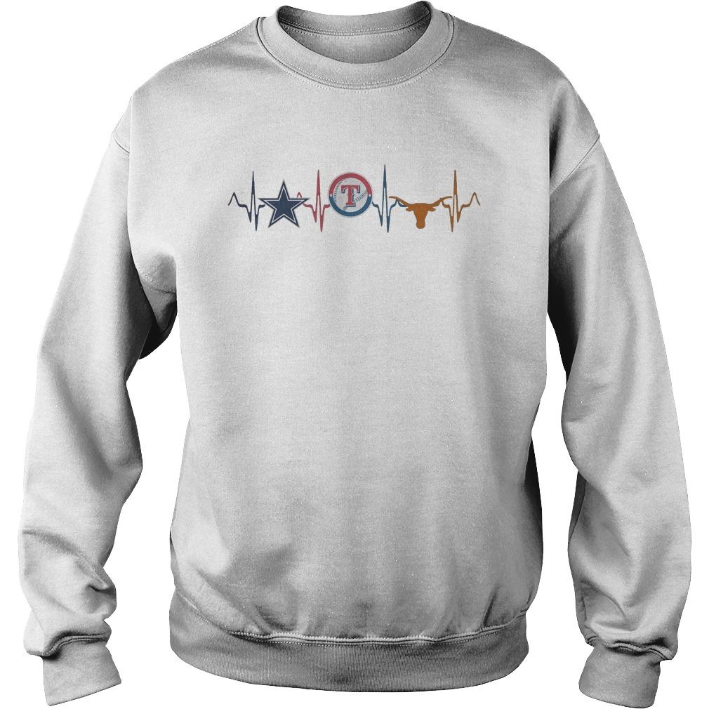 Texas Sport heartbeat Sweater