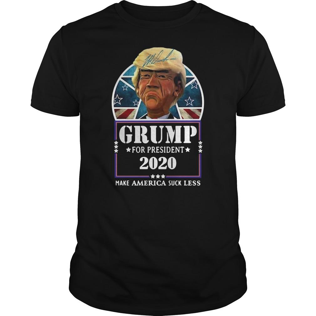 Trump for president 2020 make America suck less Donald Trump Guys t-shirt