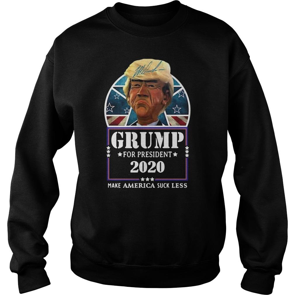 Trump for president 2020 make America suck less Donald Trump Sweater
