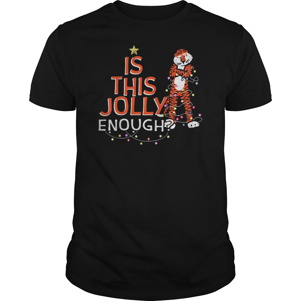 Auburn tigers is this jolly enough Christmas Guys t-shirt