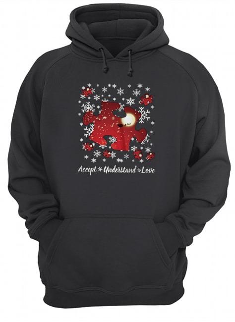 Autism Accept understand love Christmas Hoodie