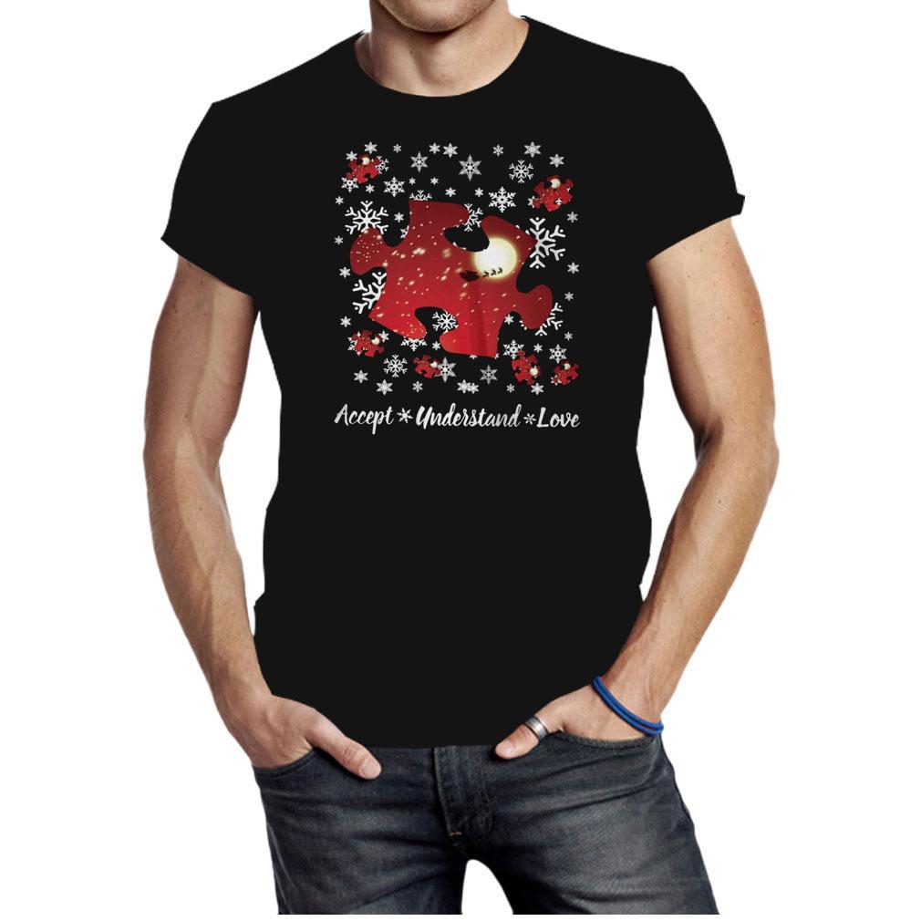 Autism Accept understand love Christmas shirt