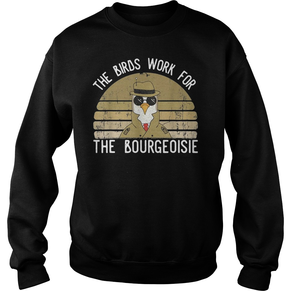 The birds work for the Bourgeoisie Vintage Sweater